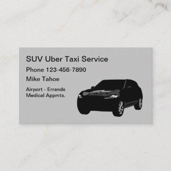 black suv taxi ride share car business card