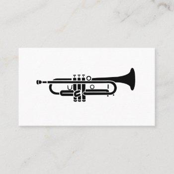 black trumpet logo business cards