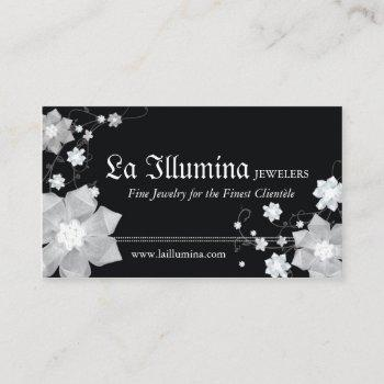 black white jeweler | jewelry shop business cards