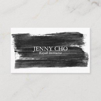 black white paint stripe business card