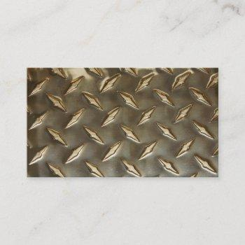 blank metallic look business cards