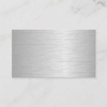 blank metallic looking business cards two side