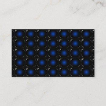 blue 3d illusion unusual business card 3