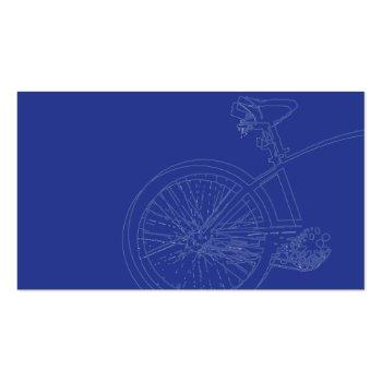 Small Blue Bike - Business Business Card Back View