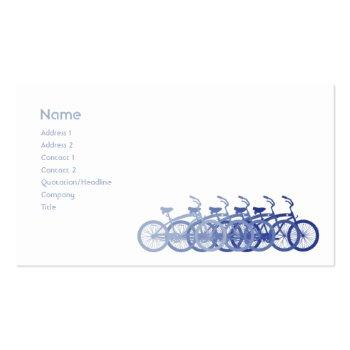 Small Blue Bike - Business Business Card Front View