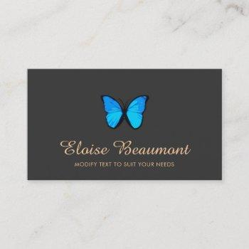 blue butterfly nature business card