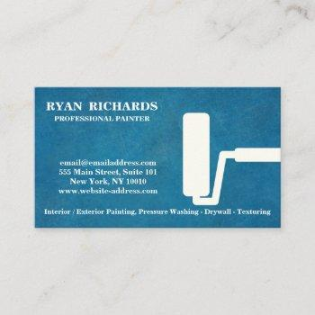 blue chalkboard house painting business card