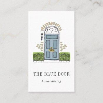 blue door | home staging or interior design business card