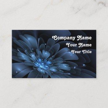blue flower 3d - fractal impression. business card