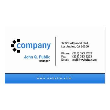 Small Blue Gradient Bottom Simple Modern Professional Business Card Front View
