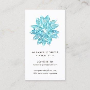 blue lotus | floral watercolor business card