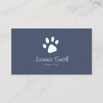 blue paw dog walking pet sitting vet appointment