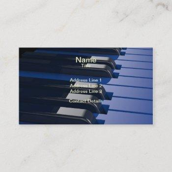 blue piano business card