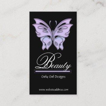 blue/purple butterfly design business cards
