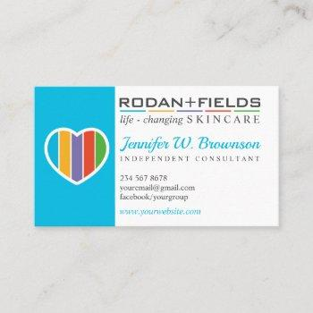 blue rodan and fields regimen consultant business card
