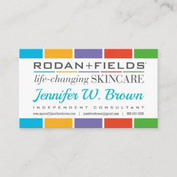 blue rodan+fields regimen punch loyalty business card