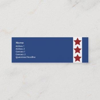 blue - skinny mini business card