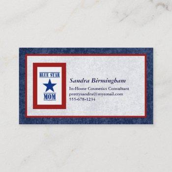blue star mom military business card