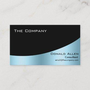 blue steel metal professional black elegant business card