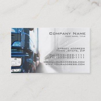 blue truck - transportation & logistics  card