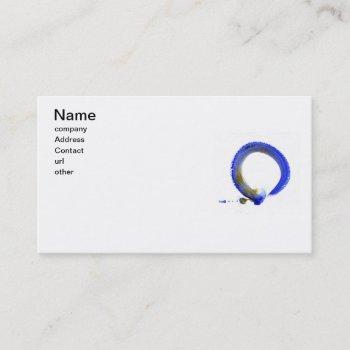 blue zen enso business card