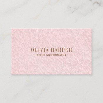 blush chic | plain elegant  leather look business card