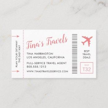 boarding pass business cards