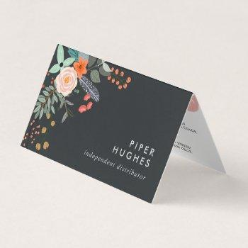 boho floral lip product distributor tips & tricks business card