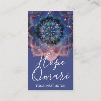 boho floral mandala chic & trendy business card