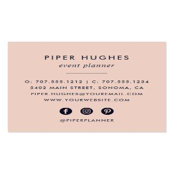 Small Boho Floral Square Business Card Back View