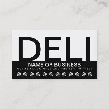 bold deli customer loyalty card