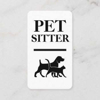 bold pet sitter business cards