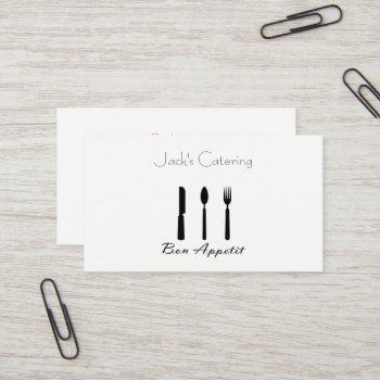 bon appetit and silverware business card