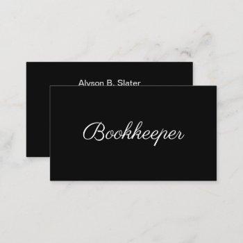 bookkeeper minimal design business card