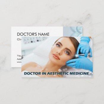 botox injections around eyes by aesthetic doctor business card