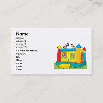 bounce castle kids business card
