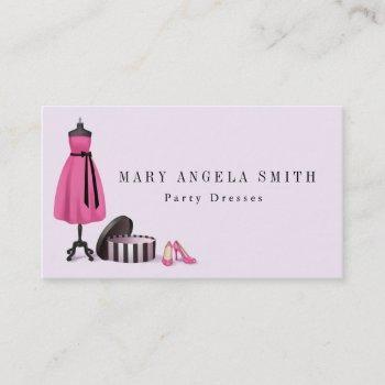 boutique seamstress shop fashion business card