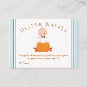 boy pumpkin diaper raffle tickets