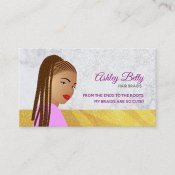 braids slogans business cards
