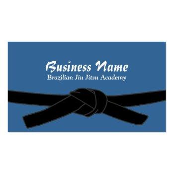 Small Brazilian Jiu-jitsu Academy Black Belt Master Business Card Front View
