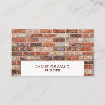 brick wall, builders business card