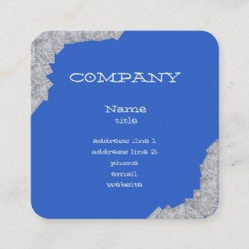 bright blue abstract business cards