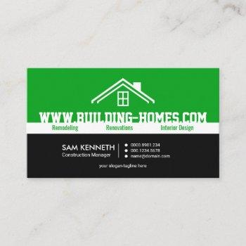 bright energetic oversize business name contractor business card