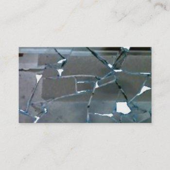 broken mirror business card