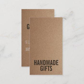brown rustic kraft paper diy handmade cardboard business card