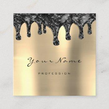 brows wax lash simply makeup skin drips gold black square business card