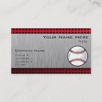 brushed aluminum look baseball business card