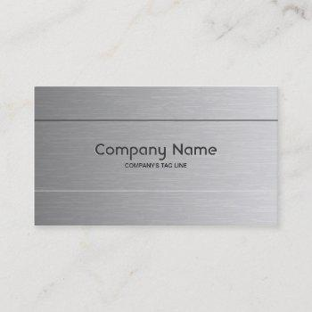 brushed aluminum look business card template