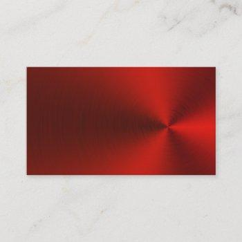 brushed red metal business cards