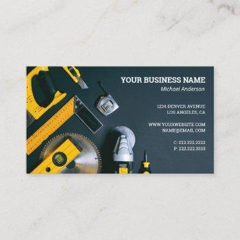 building construction service business card
